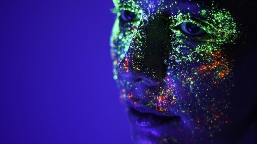 Portraits Made Electric by Luminescent Neon Paint