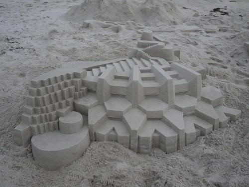 New Amazing Geometric Sand Castles from Calvin Seibert