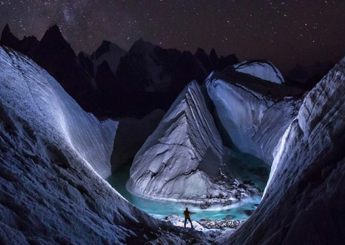 Drone Discovers Stunning Glacier Scene Hidden in the Himalayas