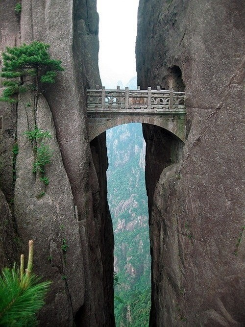 Death-Defying Pathways Along China's Yellow Mountain