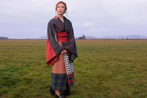 Woman Sews Handmade Kimono to Honor Japanese and Scottish Sides