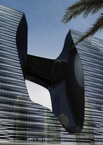 Dubai's Futuristic Floating Building by Zaha Hadid