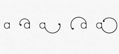 Designer Creates Whimsical New Font That Changes Shape as You Type