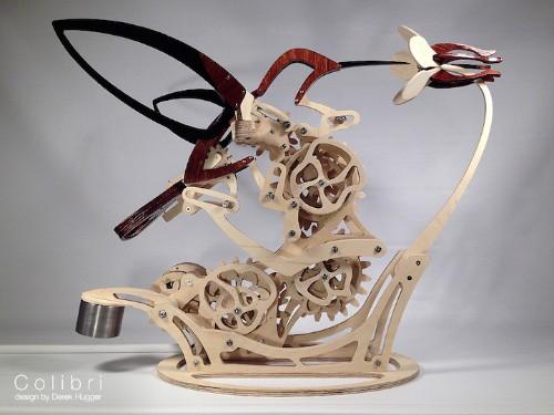 Ornate Kinetic Sculpture Fluidly Mimics a Hummingbird's Flight