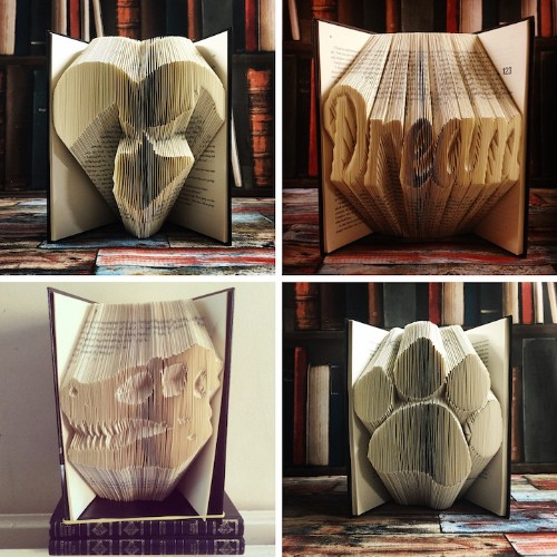 Artist Repurposes Old Books Into 3D Sculptures By Carefully Folding Their Pages