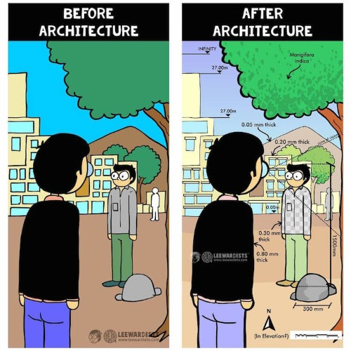 Leewardists' Webcomics Reveal the Differences Between Architects and Everyone Else