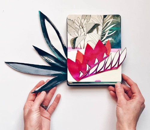 Blooming Sketchbooks Overflow with Gorgeous Color Block Collages