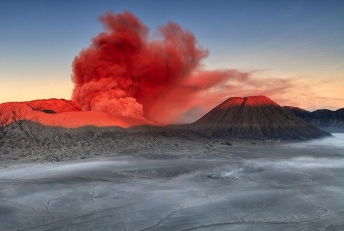 Spectacular Volcanic Smoke Surreally Wafts Over Mt. Bromo