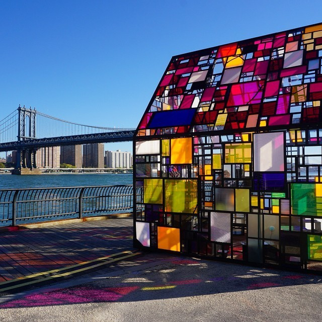 Colorful Glass House Sculpture Dazzles in New York