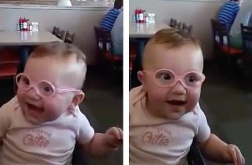 Amazed Little Girl Sees Clearly for the First Time and Can't Hide Her Pure Joy