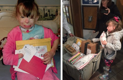 Little Girl Severely Burned in Arson Attack Only Wants Cards for Christmas–Let's Send Her Some!