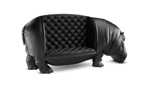 Amazingly Regal Couch Shaped Like A Life-Size Hippo