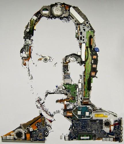 Steve Jobs Macbook Parts Portrait