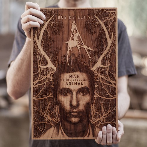 Beautiful Laser-Engraved Wooden Posters by SpaceWolf Ltd.
