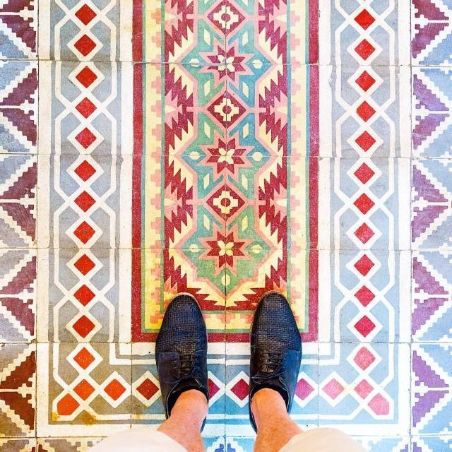 Photographer Documents the Unique Beauty of Colorful Floor Tiles in Paris