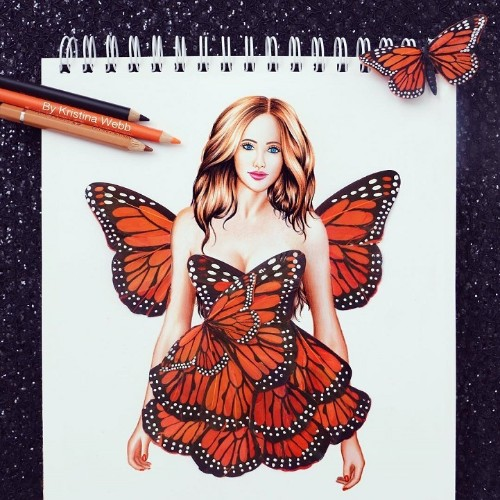 19-Year-Old Artist Uses Flowers and Food to Complete Her Colorful Drawings