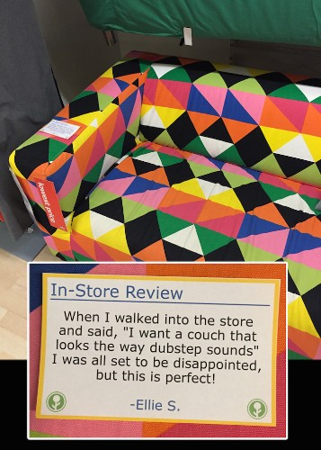 Hilarious Fake Product Reviews Pop Up Inside an IKEA Store