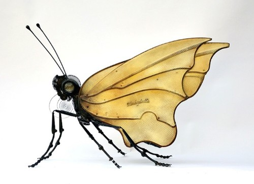 Old Junk Repurposed Into Playfully Detailed Bug Sculptures