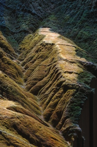 Mountain Landscape Carved Into Encyclopedia Britannica