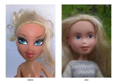 Tasmanian Artist Rescues Glammed Up Dolls by Transforming Them with Natural Beauty