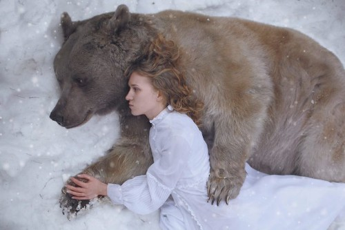 More Gorgeous Portraits of Women with Wild Animals by Katerina Plotnikova
