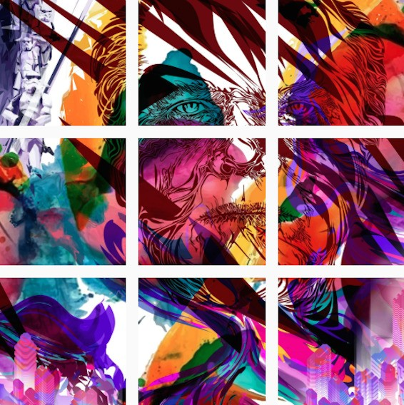 Creative Artist's Instagram Feed Forms One Endless Work of Colorful Art