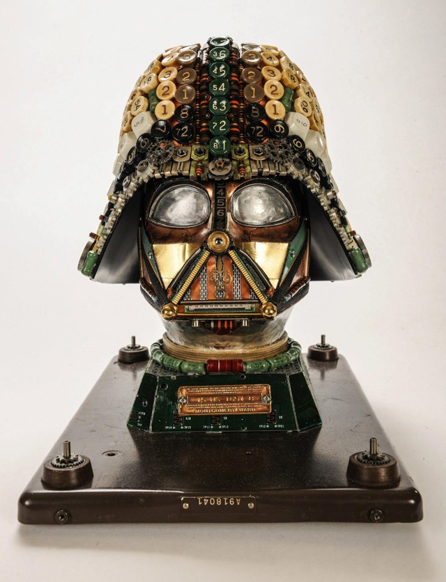Amazing Darth Vader Bust Created with Upcycled Junk