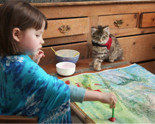 5-Year-Old Girl with Autism Paints Breathtaking Works of Art