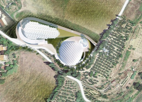 Modern Tuscan Amphitheater Features Responsive Canopy