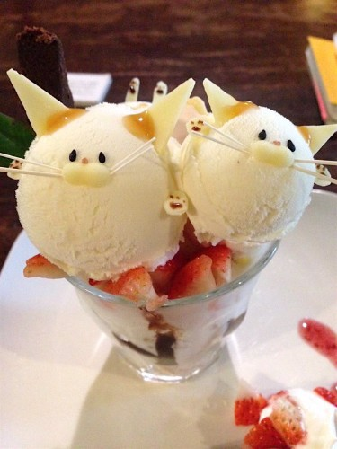 Adorable Cat Parfaits Are Served at This Traditional Japanese Book Cafe