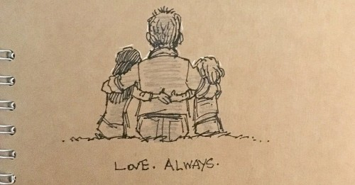 Animator Keeps His Late Wife's Memory Alive Through Heartfelt Doodles in His Sketchbook