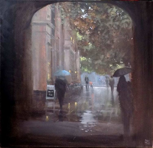 Impressionist Painter Captures Poetic Scenes of Rain-Swept Streets