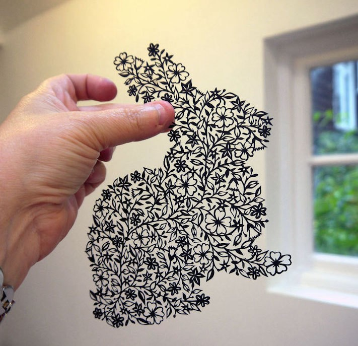 Delicately Hand-Cut Designs Emerge From A Single Sheet of Paper