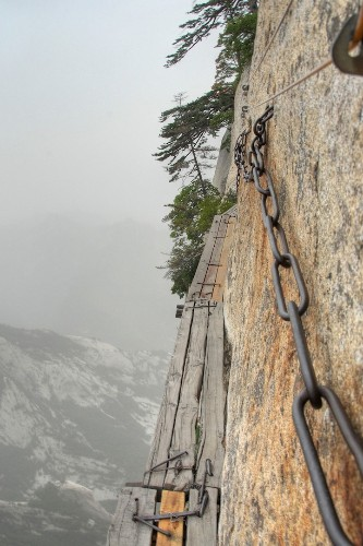 Death-Defying Pathways Along China's Yellow Mountain