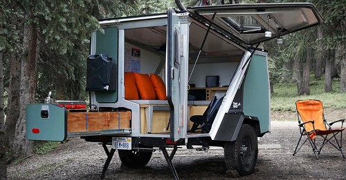 Rechargeable Lightweight Camper Equipped for Over a Week of Off-the-Grid Living