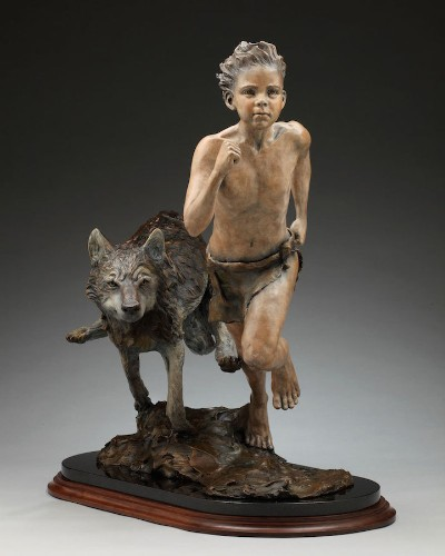 Lifelike Bronze Sculptures Capture Expressive Faces and Playful Energy of Children