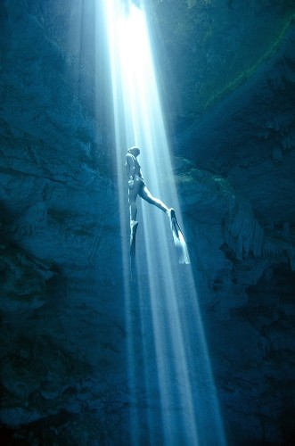 Record-Holding Free Divers Explore Cenotes on One Breath