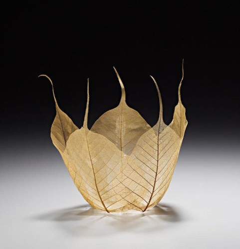 Beautiful Maple Leaf Bowl Sculptures by Kay Sekimachi