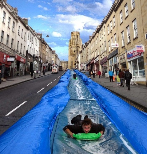 300-Foot-Long Waterslide Envisioned on a Street in Bristol
