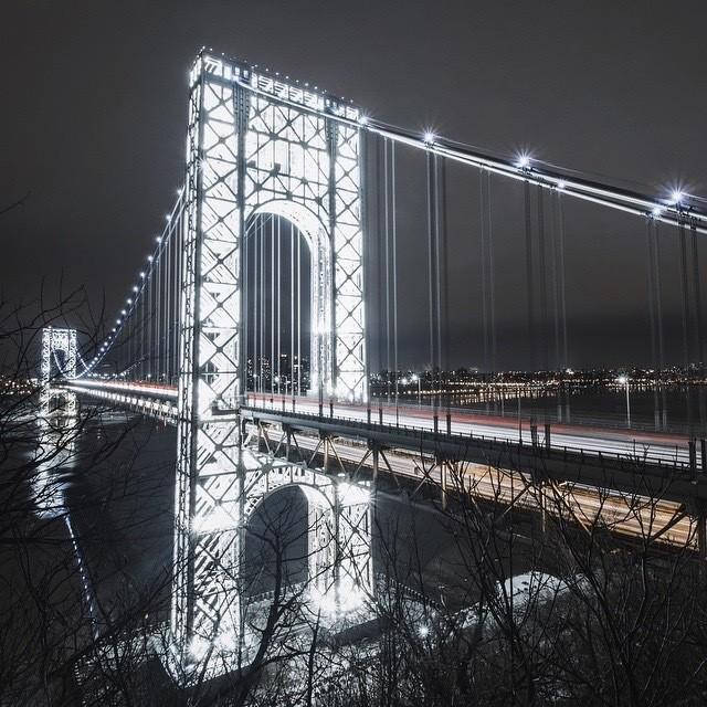 Stunning Nighttime Photos Capture NYC's Rarely-Lit George Washington Bridge