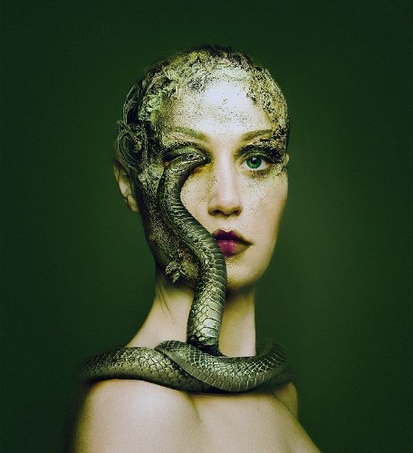 Stunning Self Portraits of a Woman Sharing an Eye with Various Animals