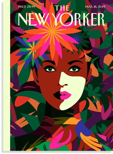 """Vibrant Cover Art for The New Yorker's """"Spring Style"""" Issue Is Inspired by Frida Kahlo"""