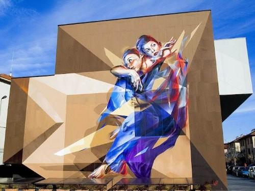 Brilliant Three-Dimesional Mural by Street Artist Vesod