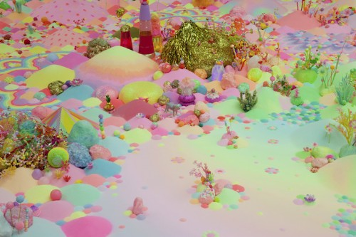 Technicolor Floor Installations Made with Vibrant Candy and Toys