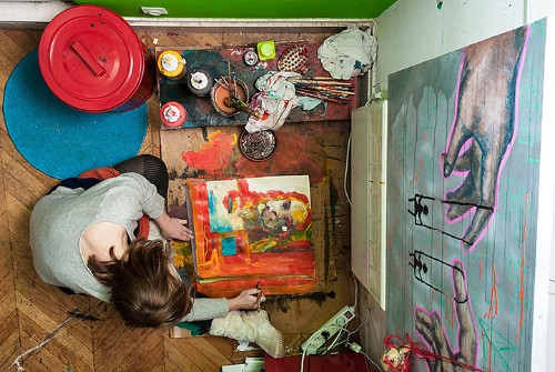 Voyeuristic Bird's Eye Views of People Inside Their Homes