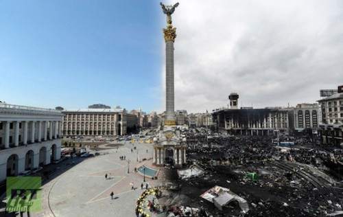 Striking Images of Ukraine Before and After the Recent Riots