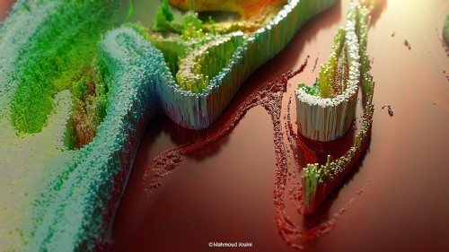 Digitally Rendered 3D Abstract Paintings Look Like Miniature Worlds