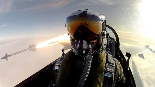 Fighter Pilot Takes Epic Selfie While Launching a Missile