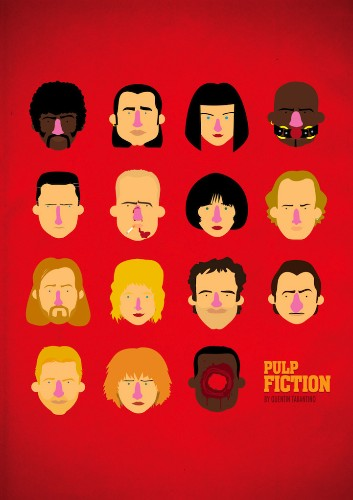 Playful Minimalist Posters Depict Classic Movie Characters