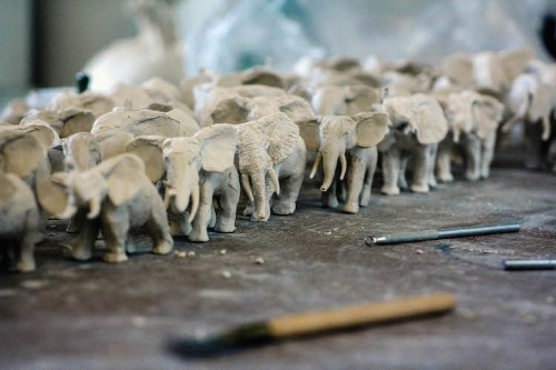 Interview: Ceramicist Hand-Sculpts 100 Elephants in 24-Hour Livestream